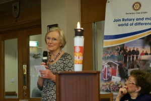 Mary Berry with Flame
