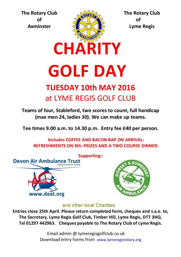 Lyme Regis Rotary Golf Day May16