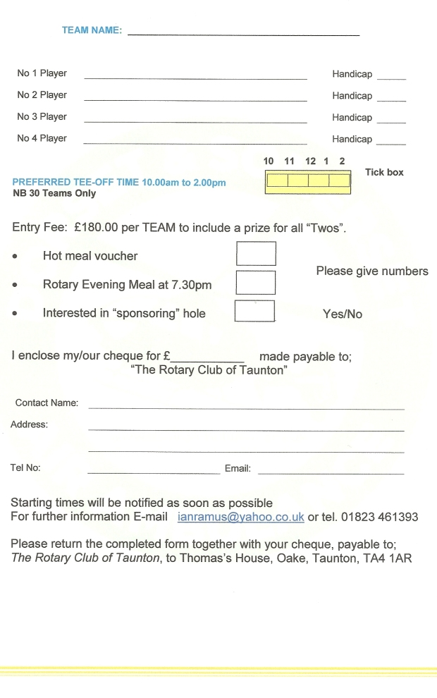 Rotary Club of Taunton Charity Golf 2017 (2)0001